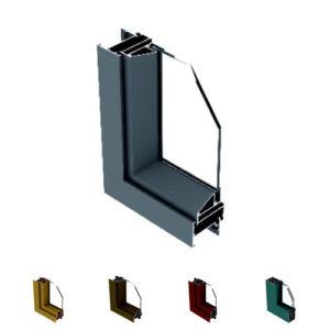 Aluminum casement window profile
