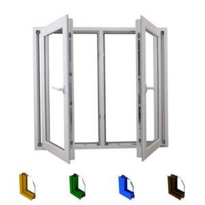 Aluminum casement window system